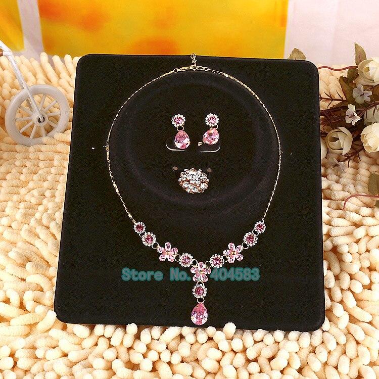 20 unids/lote juego de joyas tarjetas de exhibición soporte pendiente collar anillo colgante tarjetas de exhibición con bolsa de plástico OPP