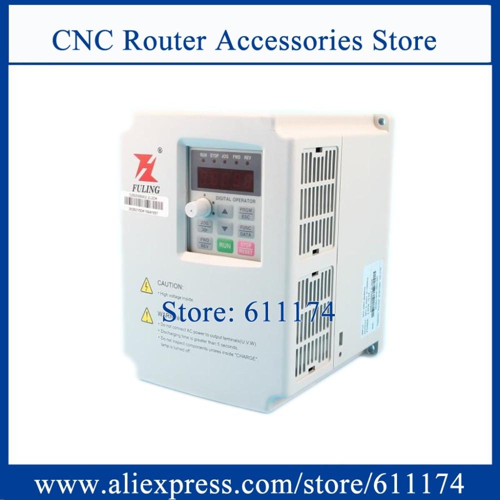 Inversor VFD de frecuencia FULING 2,2 kW AC380V 0-1000Hz inversor de frecuencia CNC DZB312B002.2L4DK inversor VFD