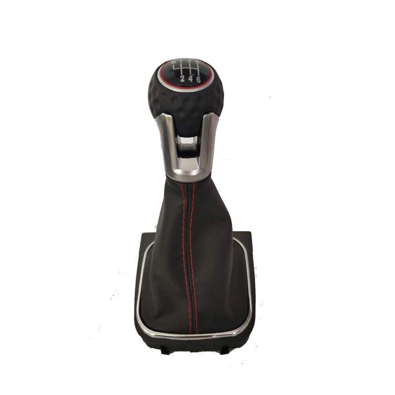 Velocidad de 5 6 DE CAMBIO DE engranaje de perillas con Gaitor de mando para VW Golf 5 V Golf 6 VI Manual con la cabeza de engranaje de mando estilo de coche