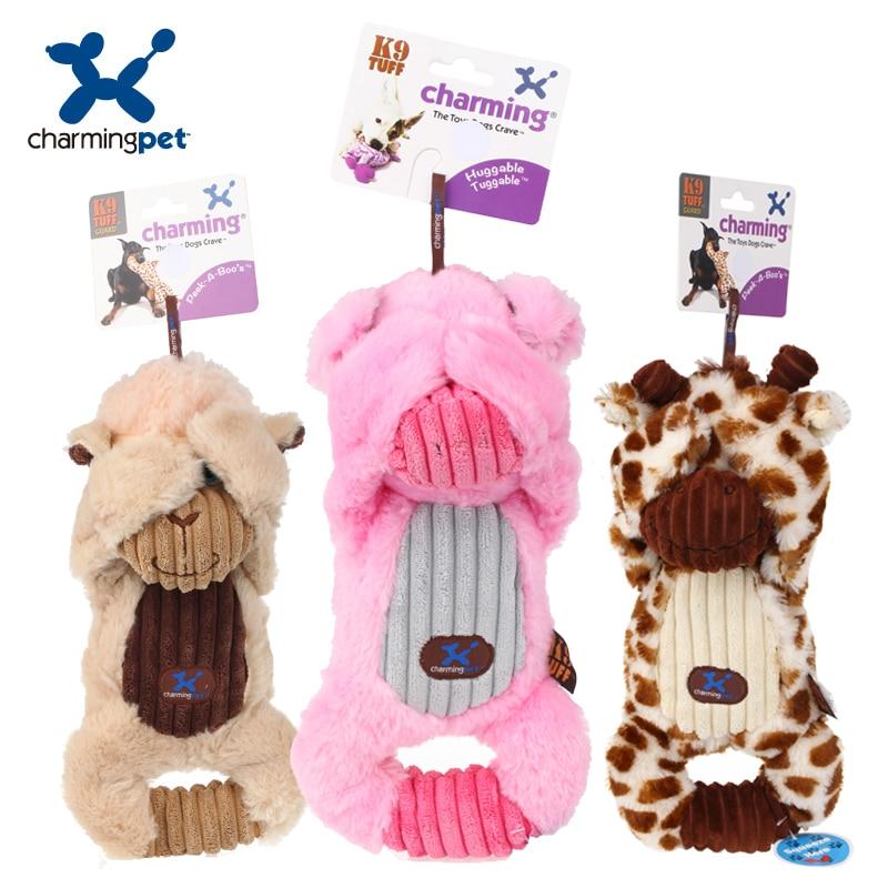 Charmingpet  pet dog Voice small toy dog toy sheep deer pig pet toys pet training Squeak Toys