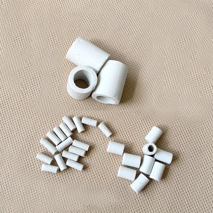 7-17mm ID cubierta de alambre de horno eléctrico alta temperatura resistente alúmina cerámica manga corta tubo porcelana pernos de anilla 10-30mm
