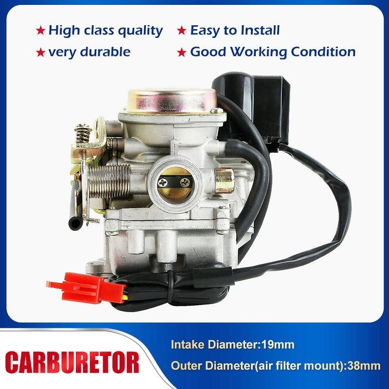 50cc Carburetor ~ 4 stroke لـ SUNL BAJA 50cc الصينية GY6 139QMB المحرك دراجة نارية ROKETA JCL TaoTao ، جديد