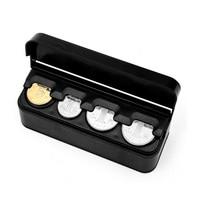 Automatic Euro Coin Organizer Storage Modern Style Contains Coins Purse Square Plastic Auto Coin Box Accessories