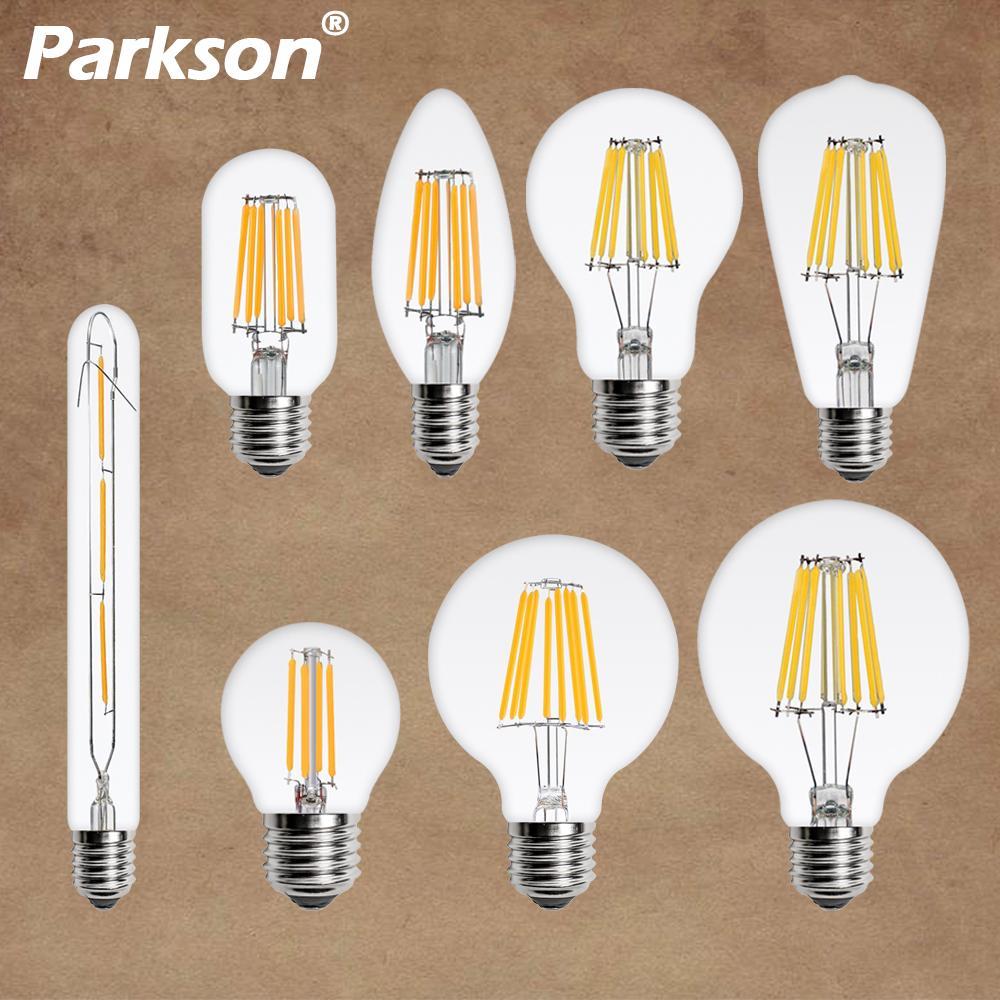 Светодиодный светильник лампа накаливания E27 ретро лампа Эдисона 220 В E14 Светодиодный тажная Светодиодная лампа Эдисона ламсветильник в вид...