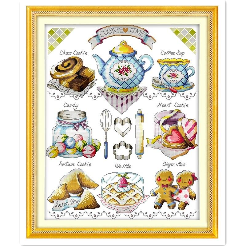 Набор для вышивки крестиком tea Cake, китайский Набор для вышивки крестиком, 11CT Печать на холсте, домашний декор