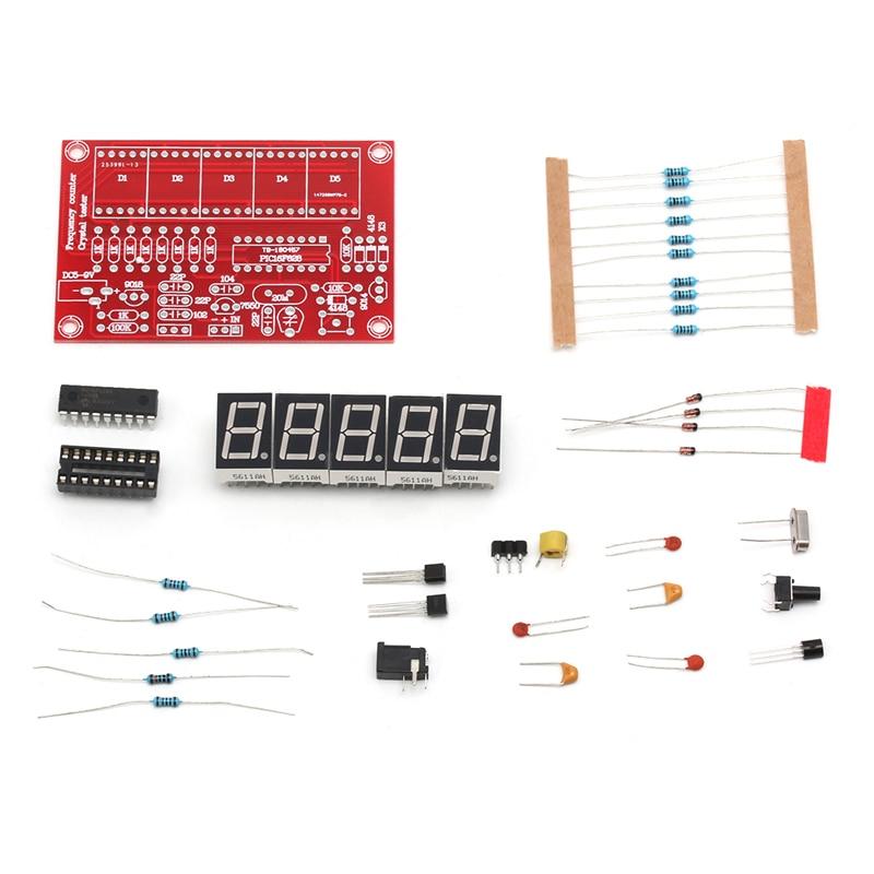 Kit de pantalla LED Digital, 1Hz-50MHz, oscilador de cristal, medidor contador de frecuencia, 5