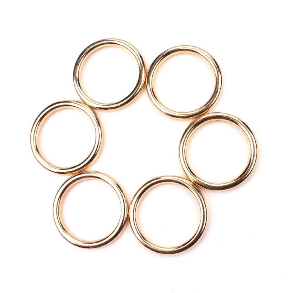Meiperles 10 pièces/lot 30*30mm mode bricolage bijoux anneaux pour collier accessoires couleur or en plastique CCB anneaux ronds UF8115