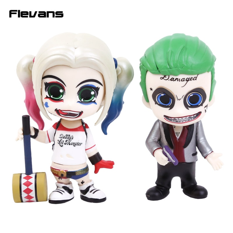Suicide Squad Harley Quinn & The Joker PVC Action Figures Collectible Model Toys 2pcs/set 10cm