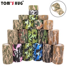 4.5m Hunt Disguise Elastoplast Camouflage Elastic Wrap Tape Self Adhesive Sports Protector Ankle Kne