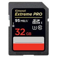 Kimsnot aşırı Pro 633x32GB SDHC kart 256GB 128GB 64GB 16GB SD SDXC kart hafıza kartı Class10 yüksek hızlı 95 MB/s Canon Nikon için