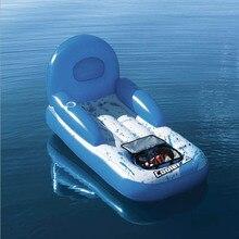 Océan paradis flottant eau rangée natation chaise longue flottant rangée lit flottant flotador gigante opblaasbare zwembad speelgoed