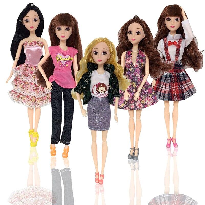 Ropa de moda para muñecas, accesorios de 30cm, ropa de muñeca articulada, accesorios de falda de fiesta hechos a mano para muñecas, juguetes para niñas, regalo