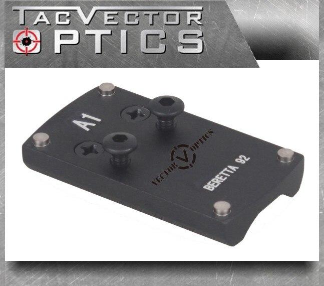 Vector Optics Beretta 92 pistola punto rojo mira Montaje Trasero placa Base apto para Sphinx Vortex Venom Burris FastFire vistas