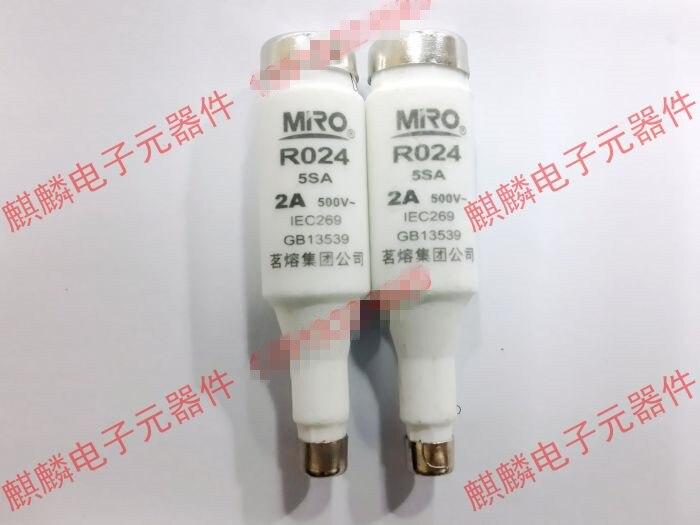 Fusible cerámico Original nuevo 100% E16 5SA RO24 Original 2A 500V tipo tornillo núcleo de fusible