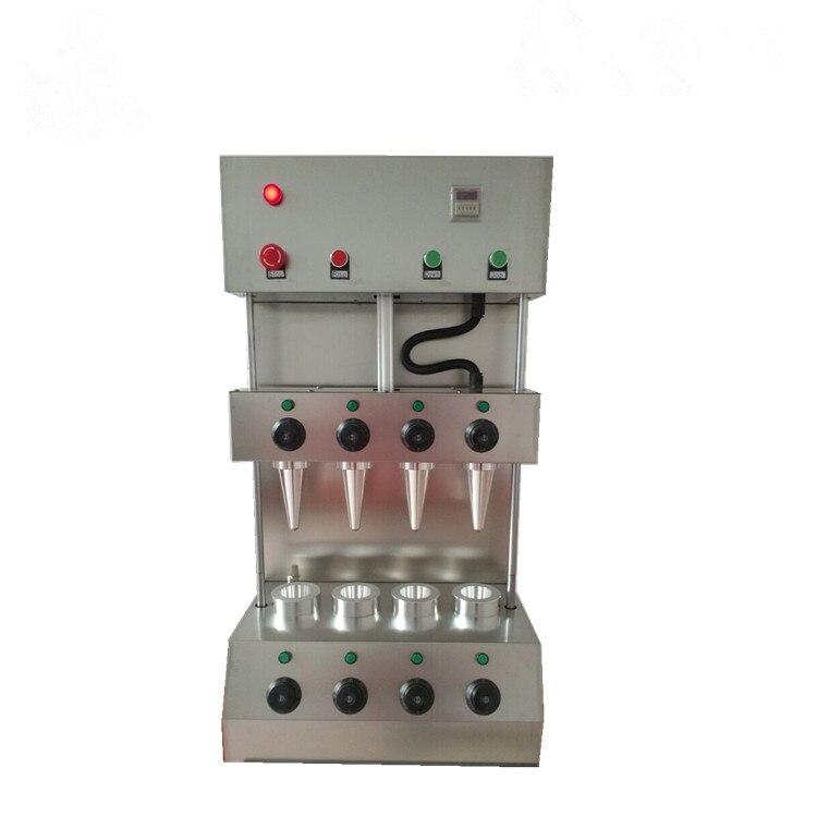 La máquina de fabricación de conos de Pizza comercial, de acero inoxidable 304, con 4 cabezales, la más vendida