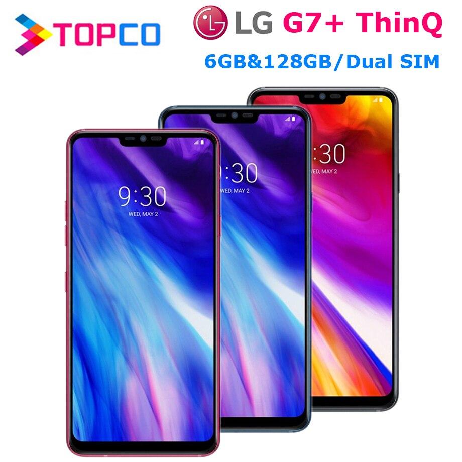 "LG G7 Plus G7+ ThinQ G710EAW 128G ROM 6G RAM Original Unlocked LTE Android Dual Sim Snapdragon 845 Octa Core 6.1"" Dual 16MP NFC"