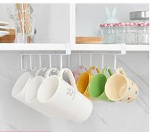 Puerta trasera armario de cocina estante de clavado gratis percha de armario gancho de cocina almacenamiento creativo pequeños objetos gancho de cojinete