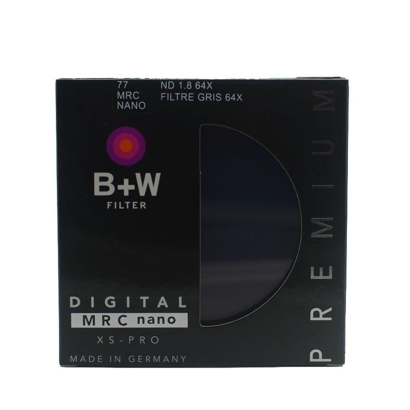 B + W 810 Ultrafino Densidade Neutra ND 64 77mm MRC 6 Parar para Câmera ND 64 67 72 77 82