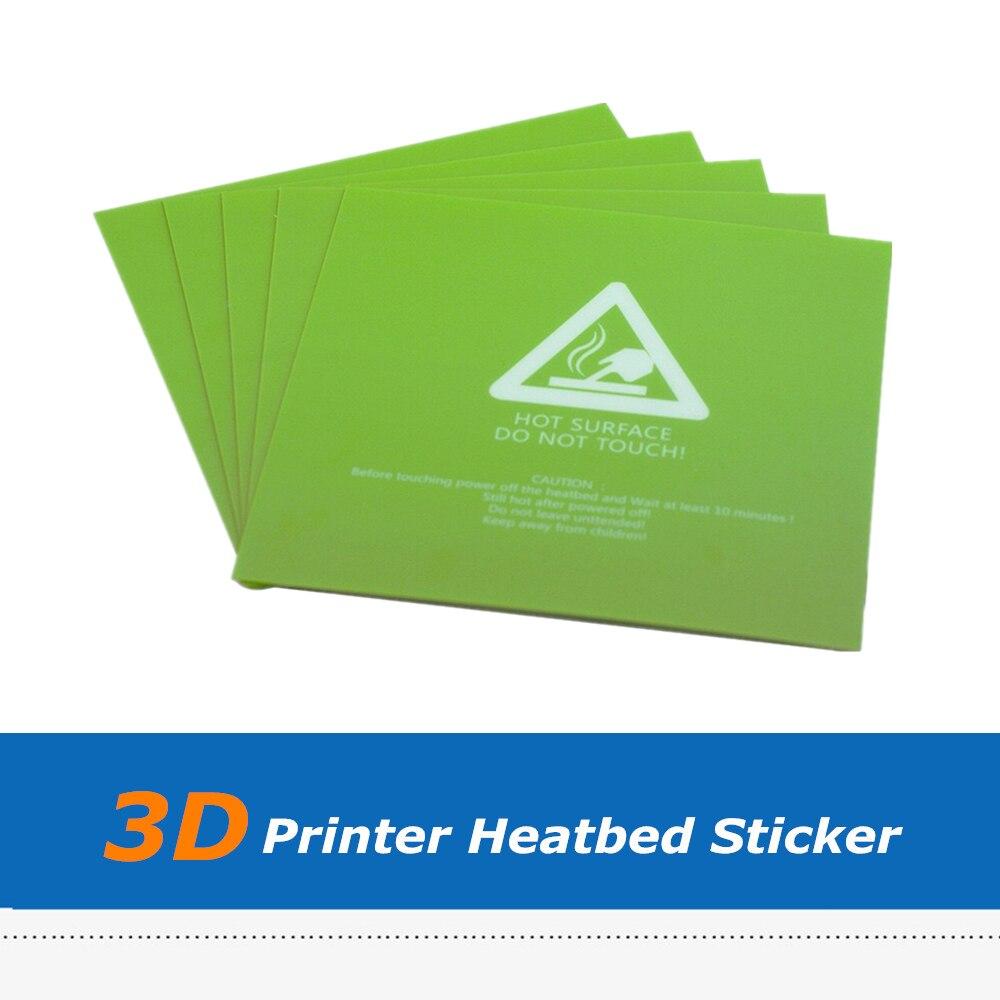 5 pcs/lot 220*220mm 300*300mm couleur verte feuille de lit de chaleur givrée, pièces dimprimante 3D construire autocollant de plaque