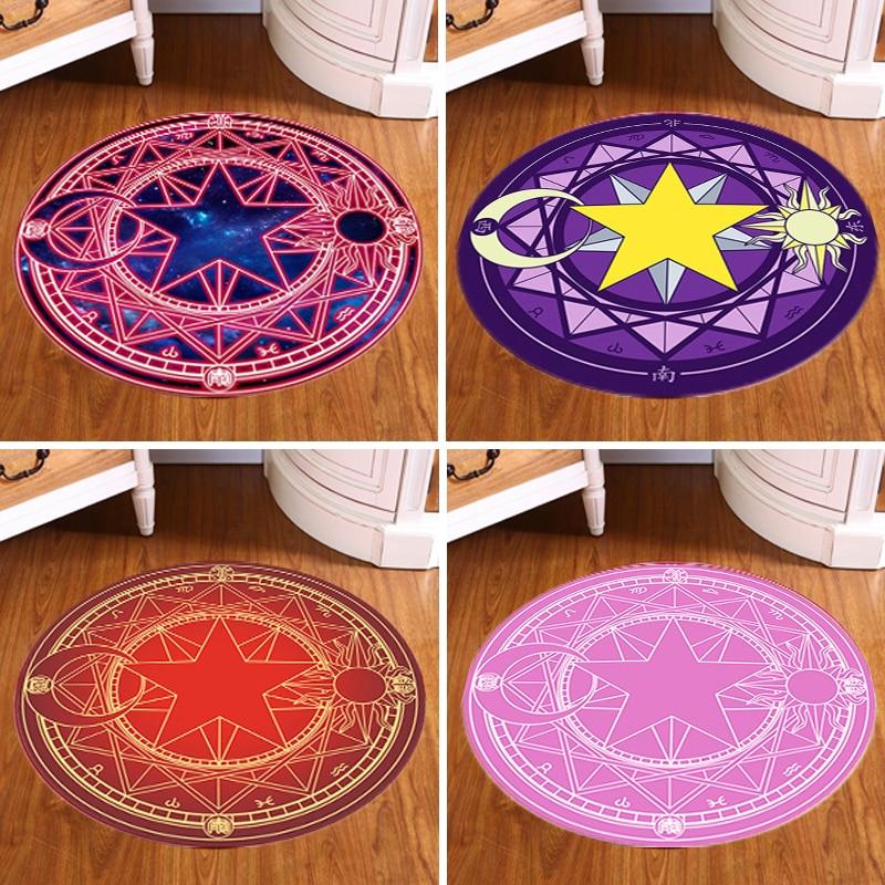 Japan pentagramm kinder trend runde teppich mode cartoon stil wohnzimmer computer Magie kreis schreibtisch stuhl pad dünne matte teppich