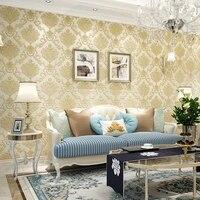 beibehang european large flower non woven bedroom modern minimalist living room tv background wallpaper wallpaper damascus