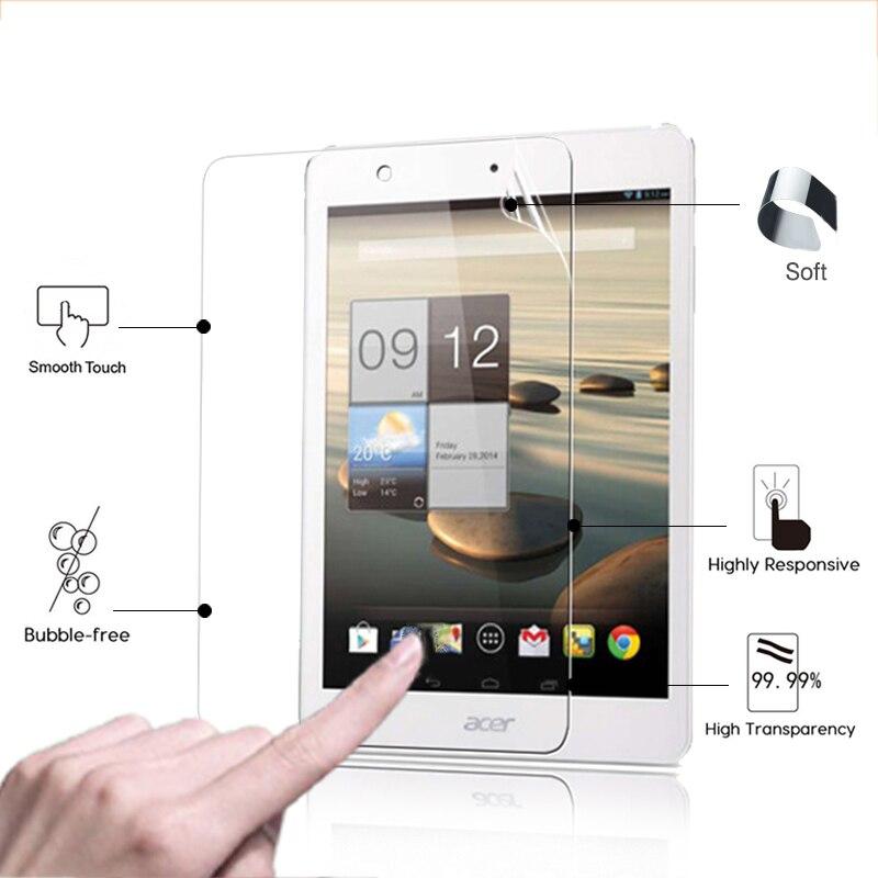 La mejor película protectora de pantalla transparente brillante antihuellas para Acer Iconia...