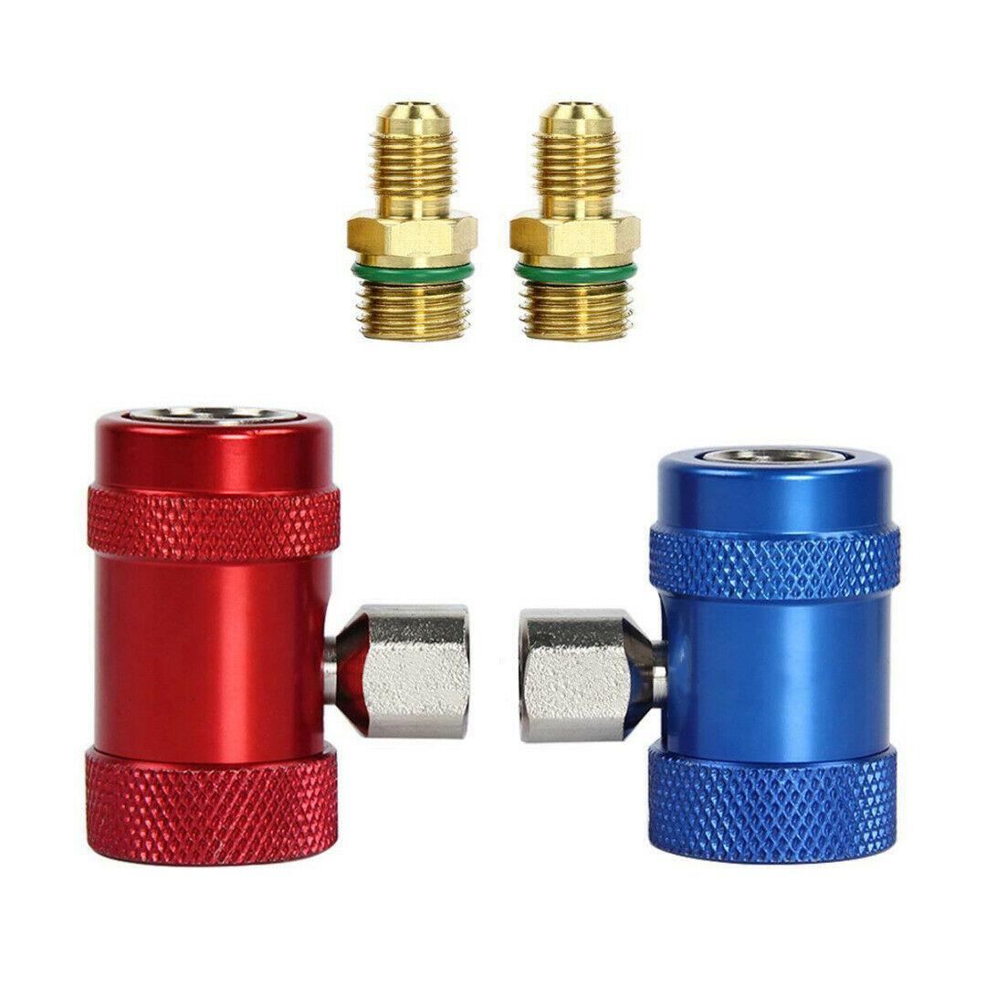 Adaptador para refrigerante de Metal de latón R1234yf conector válvula de reemplazo de aire acondicionado útil Durable práctico