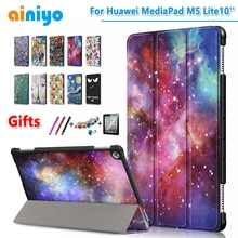 """Case Voor huawei MediaPad M5 Lite 10 beschermende cover case voor huawei BAH2-L09/W19 DL-AL09 10"""" tablet + gratis film geschenken"""