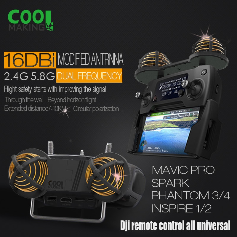 16DBi антенна усилитель сигнала расширитель диапазона Wifi повторитель для DJI MAVIC PRO SPARK INSPIRE 1 2 PHANTOM 4 PRO 4 3