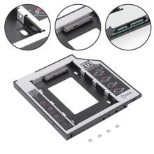 Interfaz SATA Universal Material de aluminio para HDD SATAII SDD 2ª unidad de disco duro Caddy Drop shipping