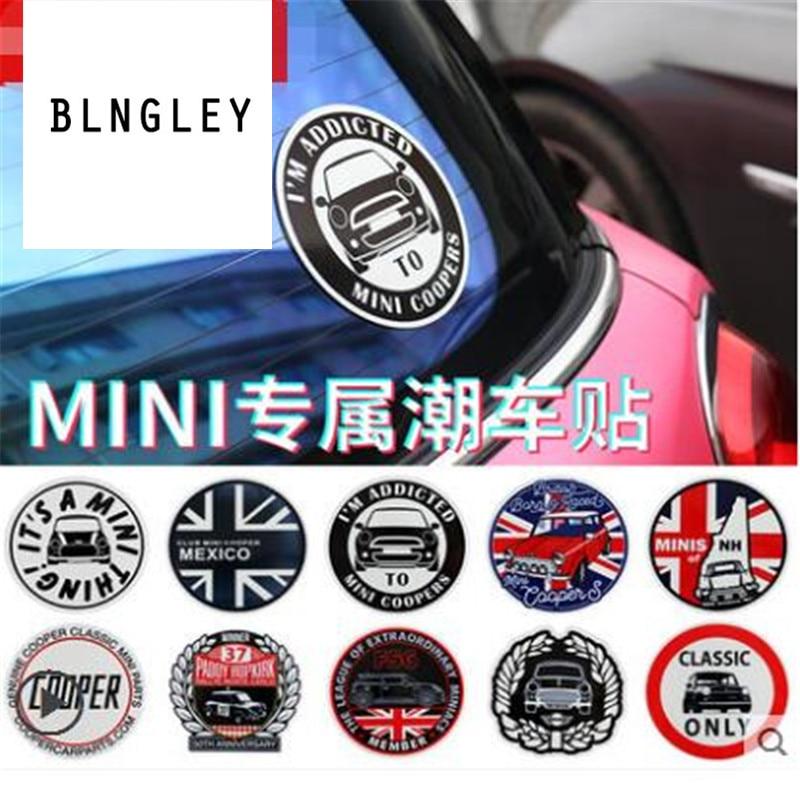 New Arrivals 2 PCS/LOT Retro style  car stickers for BMW mini cooper clubman countryman F54 F55 F56 F60 R60 etc car accessories