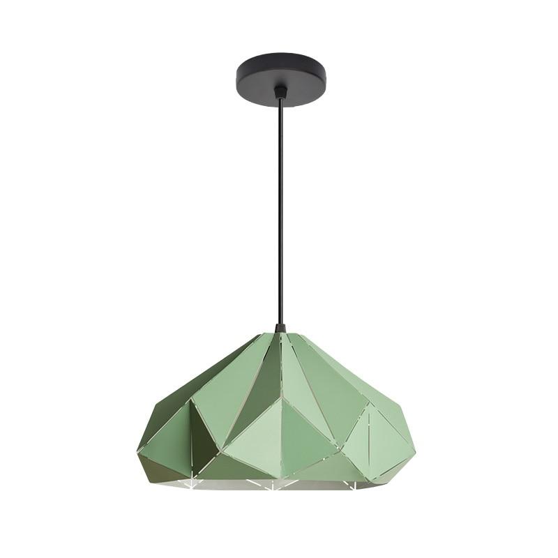 Post modern luzes pingente de diamante modelo macaron de metal gravado foyer sala de jantar droplight quarto colorido CONDUZIU a lâmpada Pendant