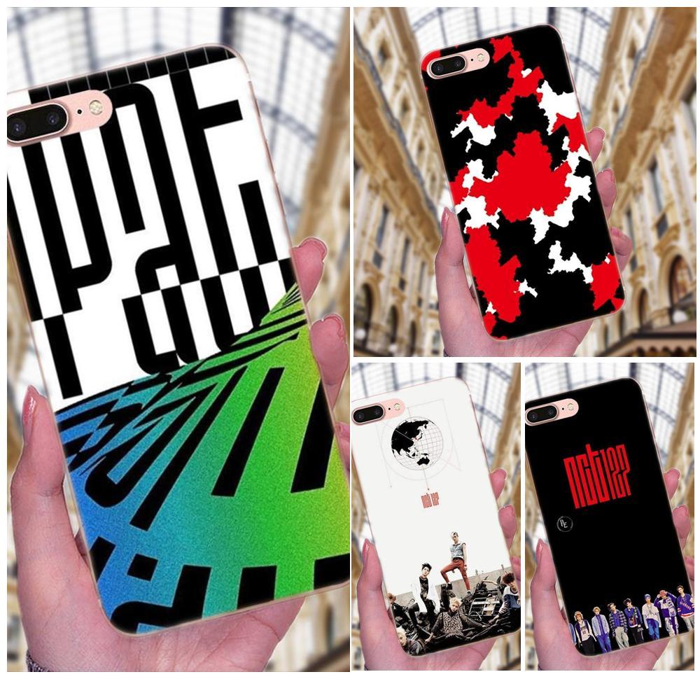 For Apple iPhone X XS Max XR 4 4S 5 5C 5S SE 6 6S 7 8 Plus Soft TPU Cell Phone Nct 127 Kpop Boy Cartoon Pattern