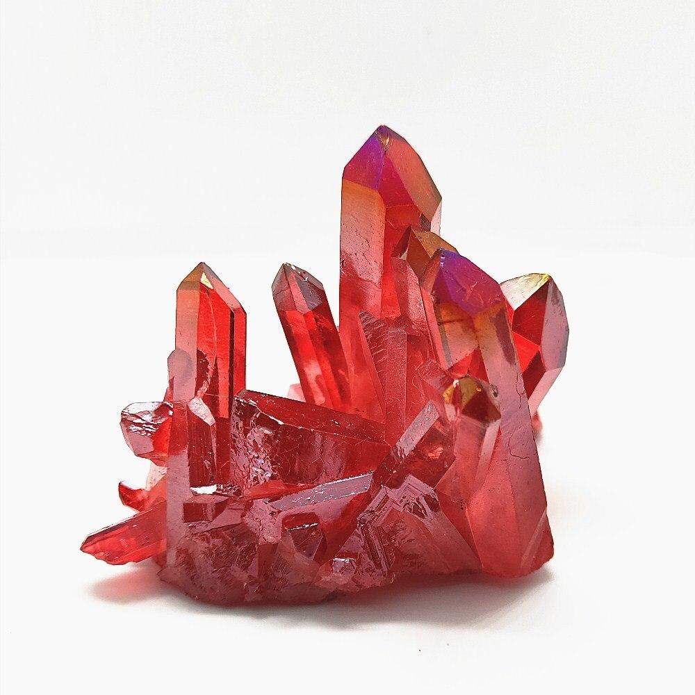 Кварцовый кластер с красным ангелом, 110 г, из натурального кристалла