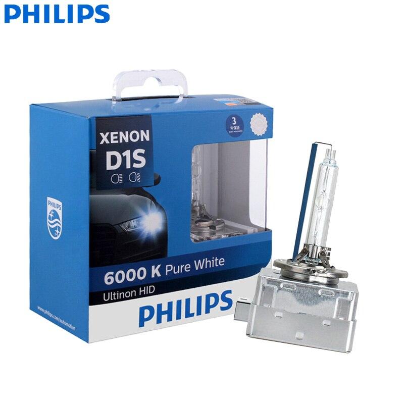 Philips ultinon farol automotivo, farol de led para carro d1s pro 35w 6000k luz branca fria xenon hid twin pacote)