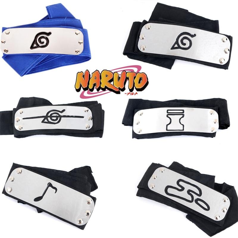 Anime Naruto bandeau Cosplay accessoires Uchiha Itachi Kakashi Akatsuki douleur chapeaux filles garçon Uzumaki accessoires
