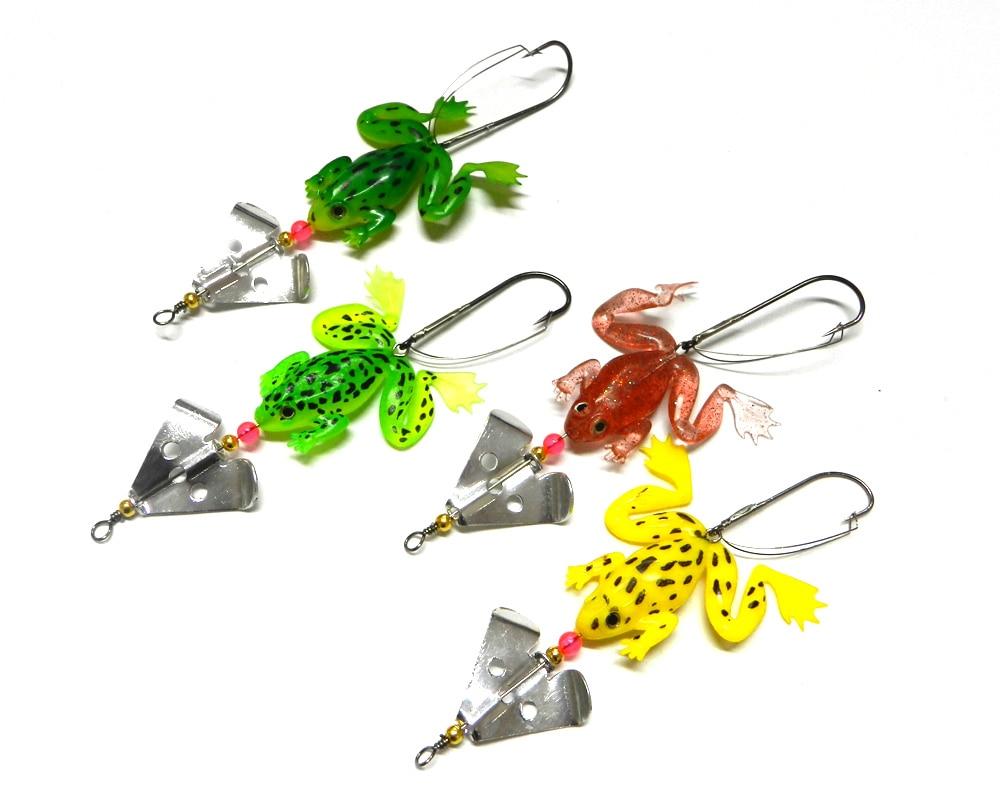 HENGJIA spinner cuchara pesca Señuelos de pesca de plástico suave cebos de pesca 6,2G 50 piezas wobble Lucio pesca tackles