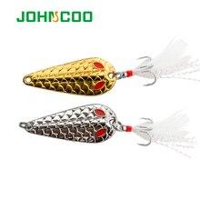 JOHNCOO 2 pcs Colher Fishing Lure 2.5g 3.5g 5g 10g 15g 20g do Metal Colher jigging Iscas Isca Isca De Pesca dura