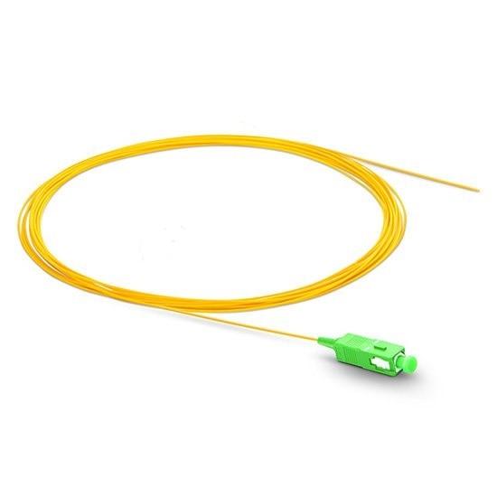 QIALAN 1.5m/50pcs SC APC Pigtail Simplex 9/125 G657A Single Mode  Fiber Optic Pigtail, Optical Fiber Cable enlarge