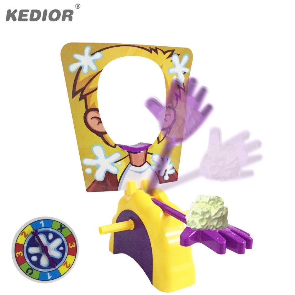 Divertido juguete antiestrés tarta cara a cara artefactos de juego familiar broma Antis dedo juego regalo