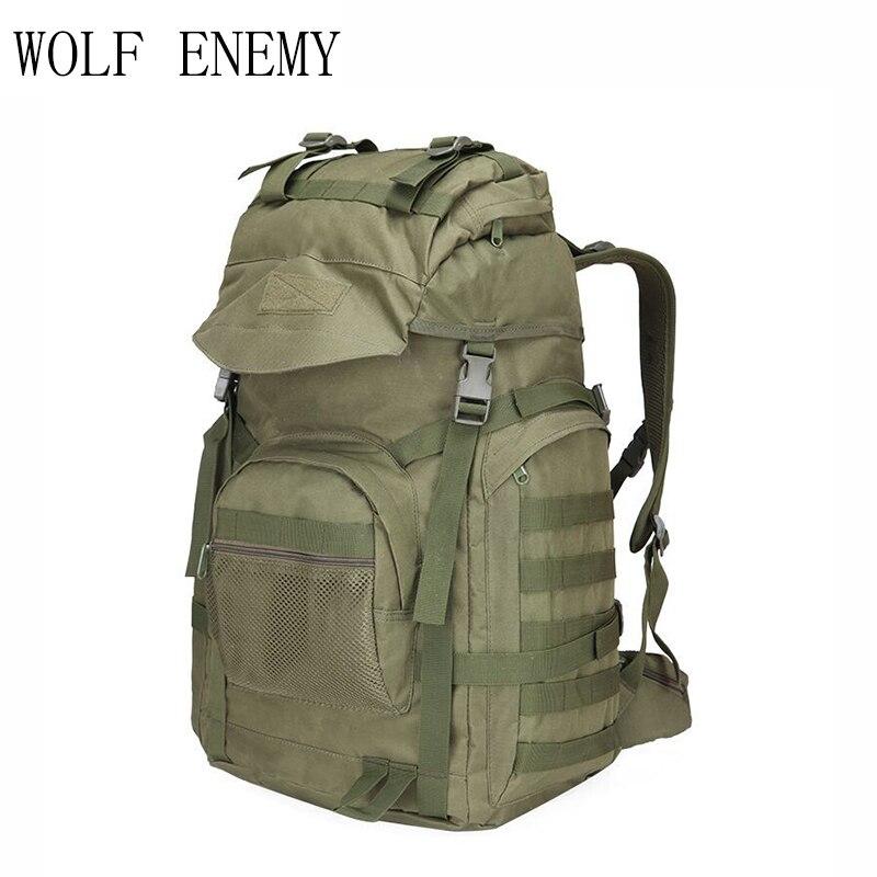 Mochila de asalto táctico militar, mochila impermeable Molle del ejército, al aire libre para senderismo Mochilas grandes, Camping, bolsa de caza