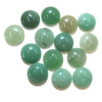 20 pcs green aventurine natural stones cabochon 6mm 8mm 10mm round no hole for making jewelry diy
