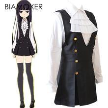 Biamoxer Inu x Boku Ss Shirakiin Ririchiyo Costume Cosplay Lolita école Unifrom robe + chemise + cravate + chaussettes tout ensemble
