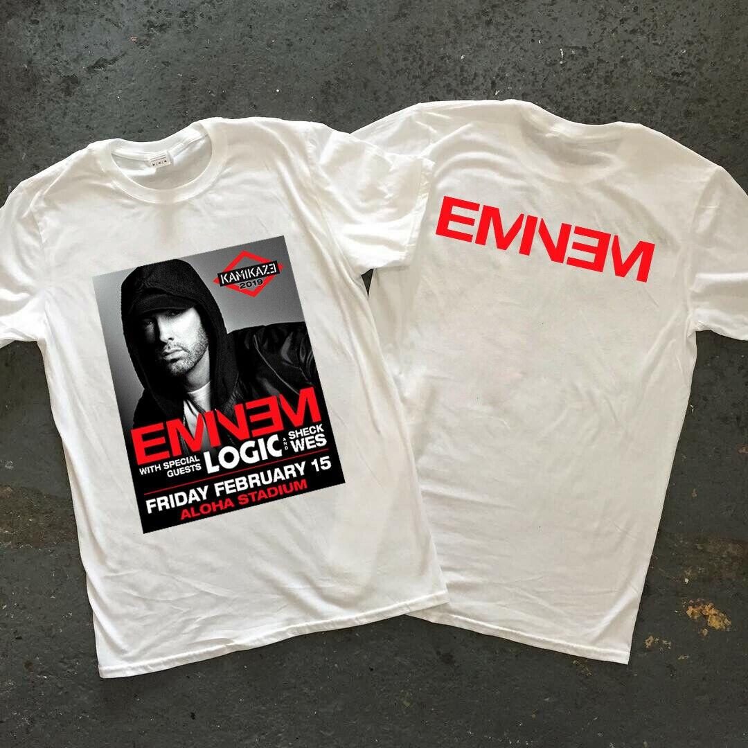 Eminem logic kamikaze 2019 15 de febrero estadio de aloha aand sheck WS camiseta nueva 2019 gran oferta nueva camiseta para hombre