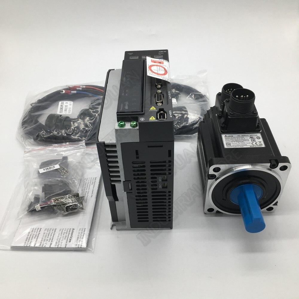 Delta A2 Servo 1KW avec frein 220V 1PH/3PH 100MM 3000-5000 tr/min 3.18NM 7.3A 22mm ASD-A2-1021-L ECMA-C11010SS Kits dentraînement de moteur à courant alternatif