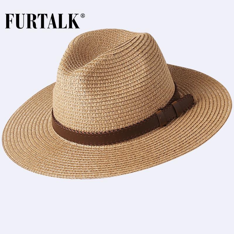 Chapéu de palha estilo panamá unissex, chapéu para verão praia proteção uv