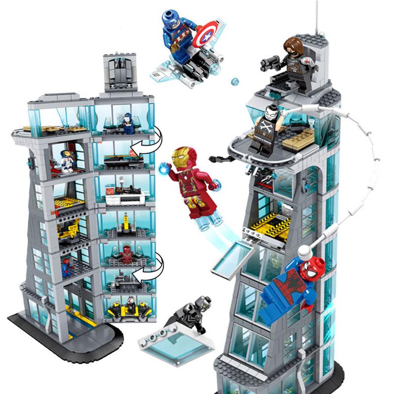 Zhenwei SuperHeroes Ironman Marvell Avenger Tower  Alliance Building SH678  Avengers Gift Building Blocks