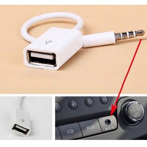 3,5mm macho AUX Audio Plug Jack a USB 2,0 hembra convertidor Cable coche MP3 teléfono ipod mp4 adaptador nuevo