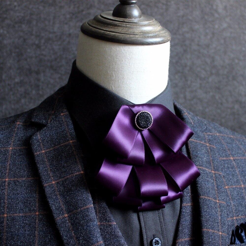 Red Elegant Men Wedding Bow Ties British Self Tie Bow Ties For Men Cravat Necktie Groom Collar Accessories Cravate Pour Homme