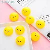 5pcs japanese cute animal group yellow chicken vocal pinch music creative pressure relief vent ball children gift toys children